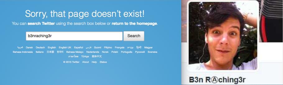Rachingers twitter account take-down was swift.